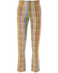 Loewe Multicolor Check Pants - Yellow