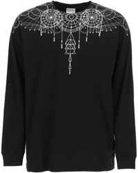 Marcelo Burlon Astral Wings Long-sleeved T-shirt L Cotton - Black