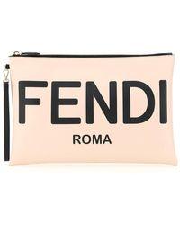 Fendi POUCH LARGE ROMA - Nero
