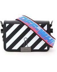 Off-White c/o Virgil Abloh Mini Diag Flap Binder Clip Shoulder Bag - Black