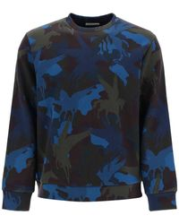 Etro Pegaso Sweatshirt L Cotton - Blue