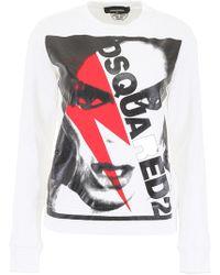 DSquared² Printed Sweatshirt - White