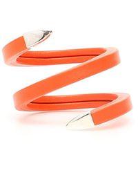 Bottega Veneta Spiral Bracelet - Orange