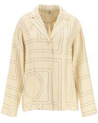 Totême Silk Twill Pajama Shirt 38 Silk - Natural