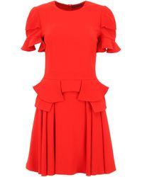 Alexander McQueen - Ruffled Dress - Lyst