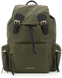 Burberry The Rucksack Large Nylon Backpack Os Leather,technical - Multicolour
