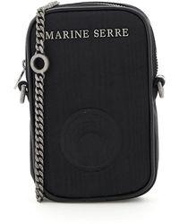 Marine Serre MINI BAG ONE POCKET PHONE CASE - Nero