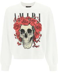 Amiri Grateful Dead Skull Sweatshirt - White