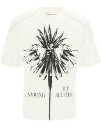 Youths in Balaclava Printed Oversized T-shirt S Cotton - White