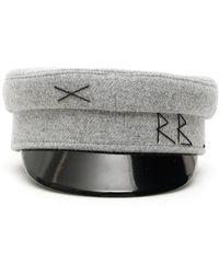 Ruslan Baginskiy Vinyl-peak Wool Baker Boy Hat - Gray