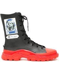 adidas By Raf Simons Unisex Detroit High Sneakers - Black
