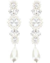 Simone Rocha Style Crystal Drop Earrings Handmade