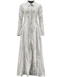 In the mood for love Moya Sequined Dress - Metallic