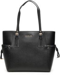 MICHAEL Michael Kors Voyager Leather Tote Bag - Black