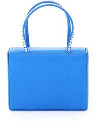 AMINA MUADDI Amini Satin Micro Bag Gilda Crystal - Blue