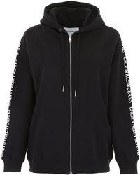 Calvin Klein Logo Hoodie - Black