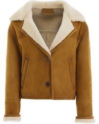 Prada Shearling Jacket - Multicolor