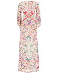 Etro Idra Dress Paisley Print - Multicolor