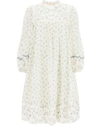 See By Chloé Cotton Voile Dress Prairie Motif - Multicolour