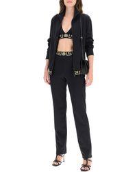 Versace Greca Band Sweatpants 2 Cotton,technical - Black