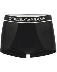 Dolce & Gabbana Culottes With Logo Band - Black
