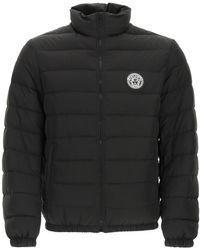 Versace Down Jacket With Medusa Patch - Black