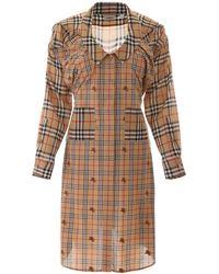 Burberry Vintage Check Dress - Natural