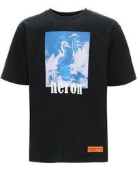 Heron Preston Oversized T-shirt Heron Print S Cotton - Black