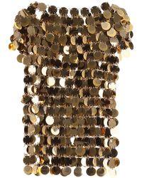 Paco Rabanne Gold Sequins Top - Metallic