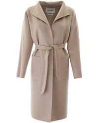 Max Mara Labbro Cashmere Coat - Natural