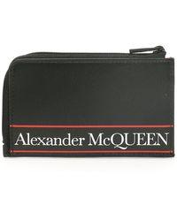 Alexander McQueen POUCH PORTACARTE LOGO - Nero