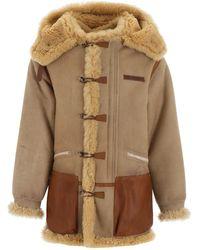 Golden Goose Deluxe Brand Toru Duffle Coat - Natural