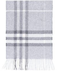 Burberry The Classic Check Cashmere Scarf - Gray