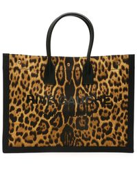 Saint Laurent Noe Cabas Rive Gauche Tote Bag - Brown