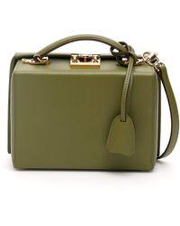 Mark Cross Grace Small Leather Box Bag - Green