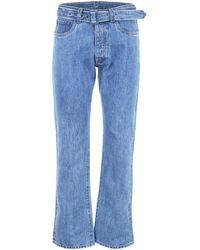 Prada Jeans With Triangle Logo - Blue