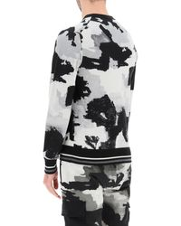 Dolce & Gabbana Camouflage Jumper With Logo Embroidery 46 Silk - Multicolour