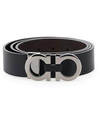 Ferragamo Double Gancio Belt - Black