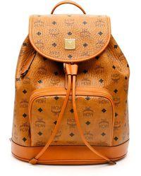 MCM Heritage Visetos Backpack - Brown