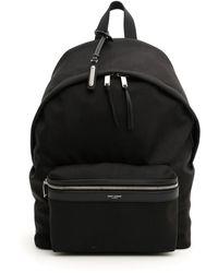 Saint Laurent City Backpack - Black
