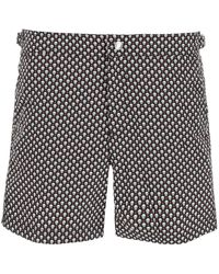 Alexander McQueen Skull Dots Swim Trunks - Black