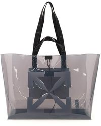 Off-White c/o Virgil Abloh Pvc Tote Bag With Logo Os Technical - Grey