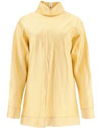 Marni Satin Tunic Top - Yellow