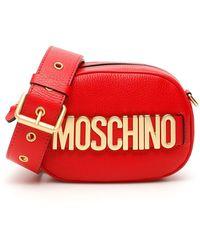 Moschino Logo Camera Bag - Red