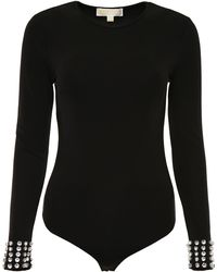 MICHAEL Michael Kors - Bodysuit With Crystals - Lyst