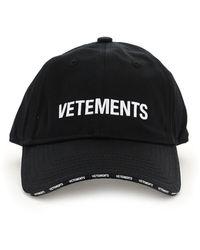 Vetements Logo Baseball Hat - Black