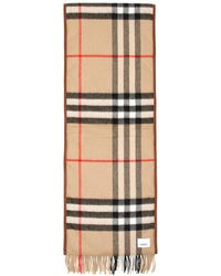 Burberry Giant Check Cashmere Scarf - Natural
