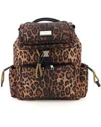 Dolce & Gabbana - Sicily Leo-print Nylon Backpack Os Technical - Lyst