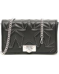 Jimmy Choo Helia Studded Clutch Bag - Black