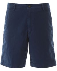 KENZO Shorts With Embroidered Logo - Blue